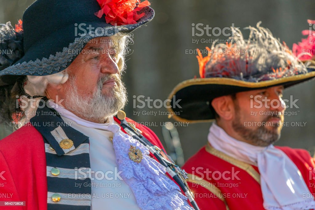 Portrait of a medieval military commanders - Royalty-free Adult Stock Photo