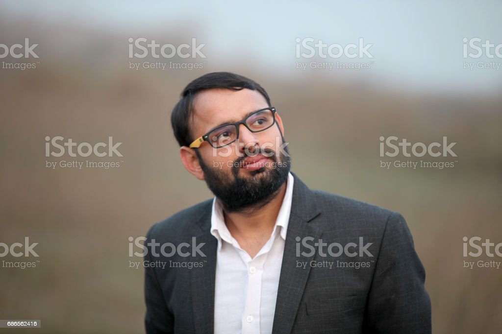 Portrait of a men looking away royalty-free stock photo