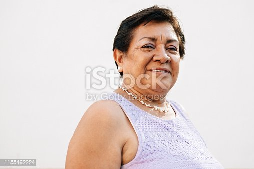 Portrait of a Mexican Senior woman