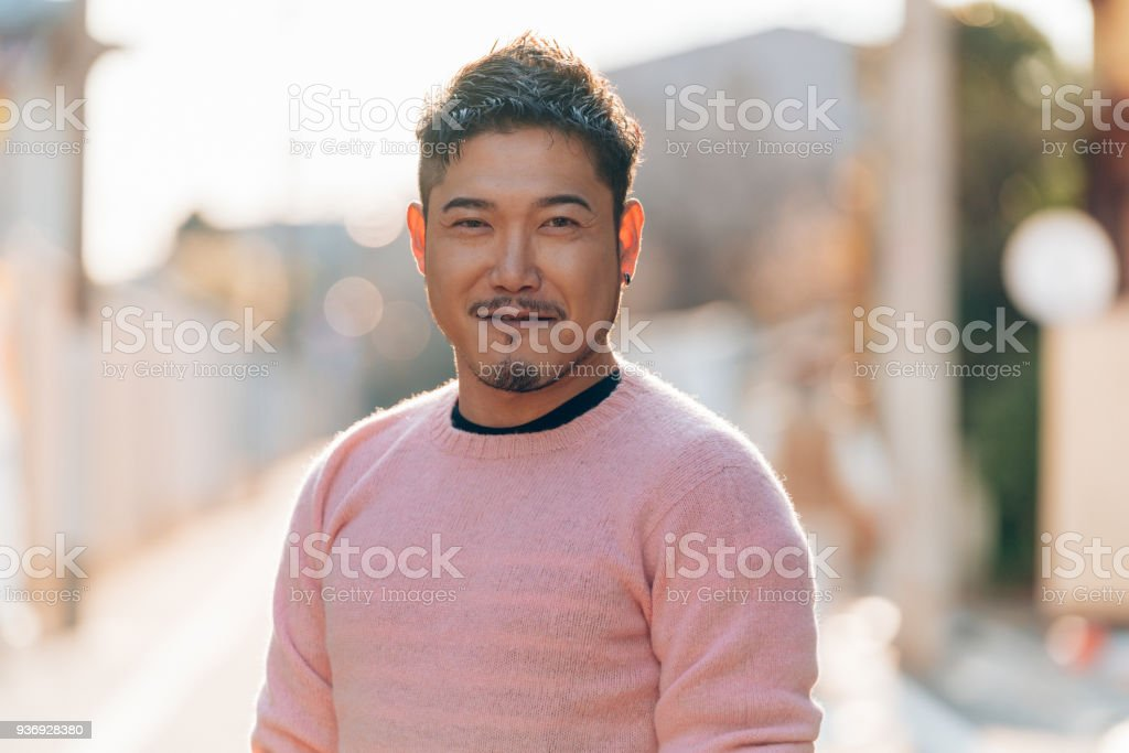 Portrait of a mid adult male stock photo