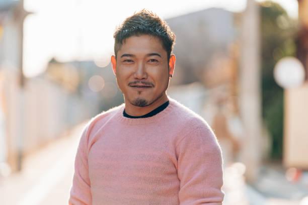 中成年男性肖像 - 日本人 個照片及圖片檔