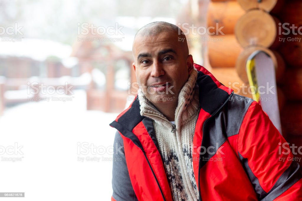 Portrait of a Mid Adult Man in Winter Clothing royalty-free stock photo