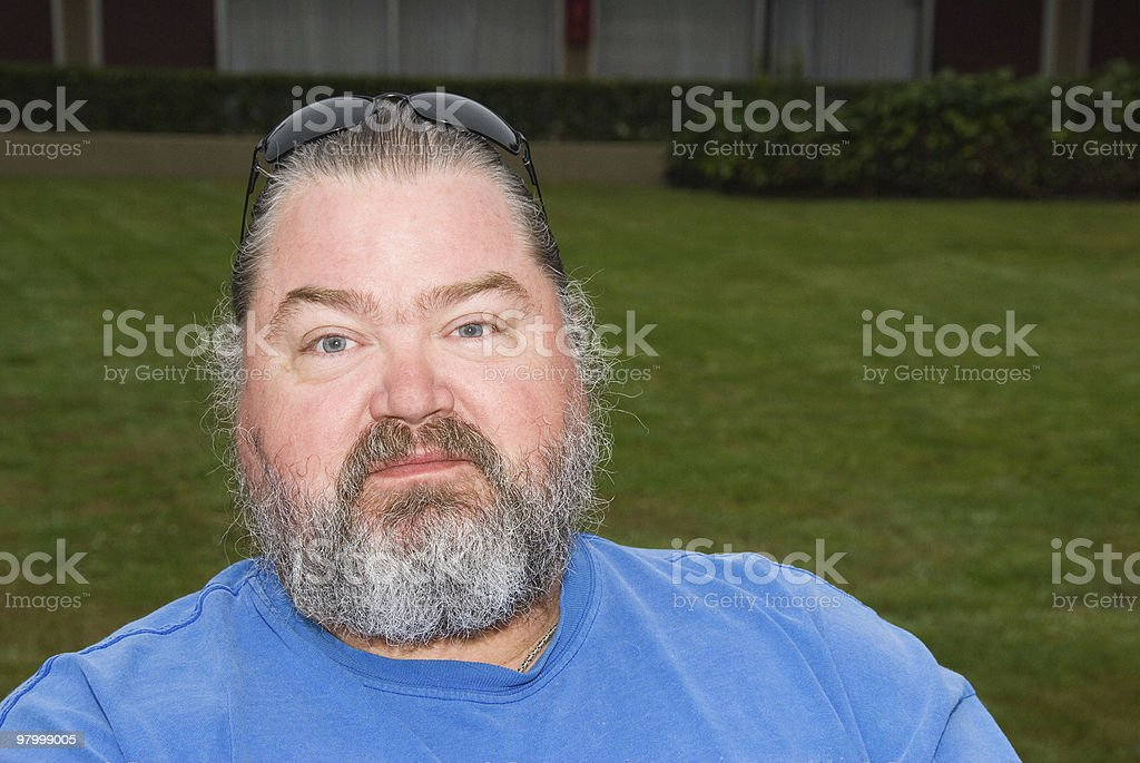 Portrait of a middle age man outdoors royalty-free stock photo