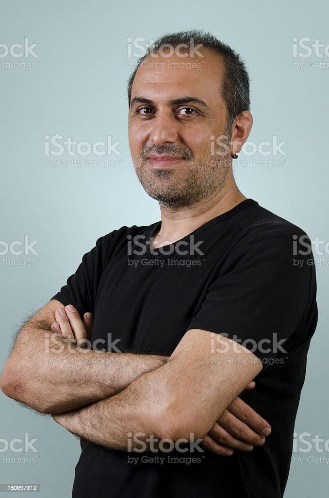 Portrait of a middle age man smiling royalty-free stock photo