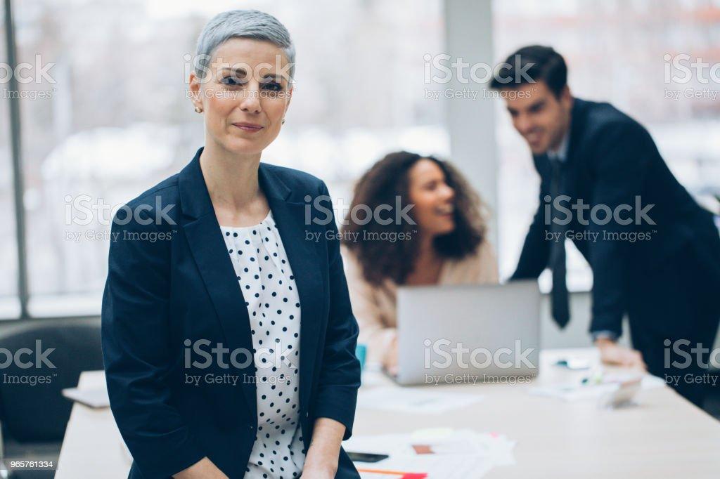 Portrait of a middle aged businesswoman - Стоковые фото 30-39 лет роялти-фри