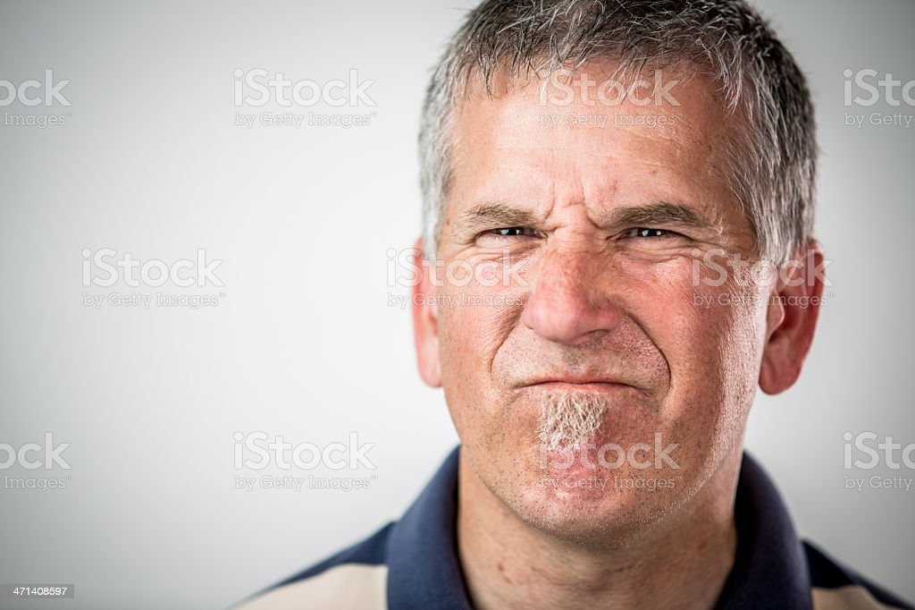 Portrait of a Middle Aged Man royalty-free stock photo