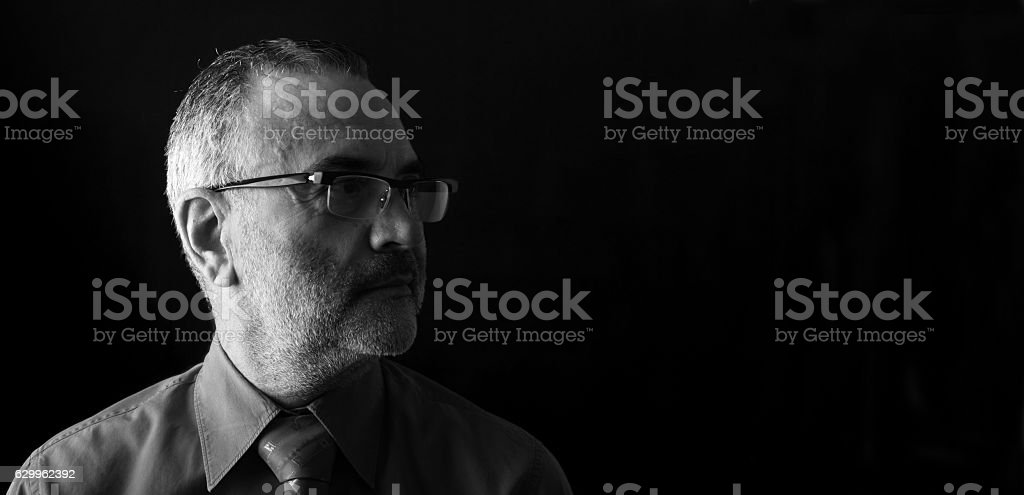 Portrait of a middle aged man stock photo