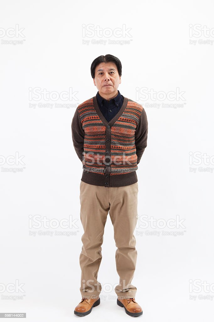 Portrait of a middle-aged Japanese man stock photo