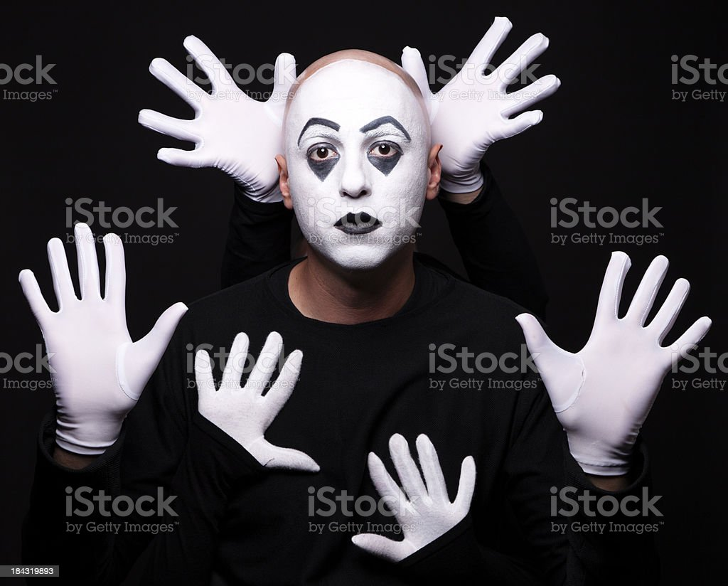 Portrait of a mime royalty-free stock photo