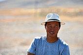 istock Portrait of a modern Mongolian nomad. 06.09.2019. Gobi Desert, Mongolia 1344708570