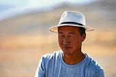 istock Portrait of a modern Mongolian nomad. 06.09.2019. Gobi Desert, Mongolia 1344708578
