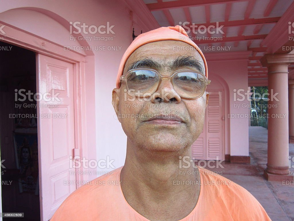 Portrait of a monk or maharaj belongs to Ramakrishna Math. stock photo