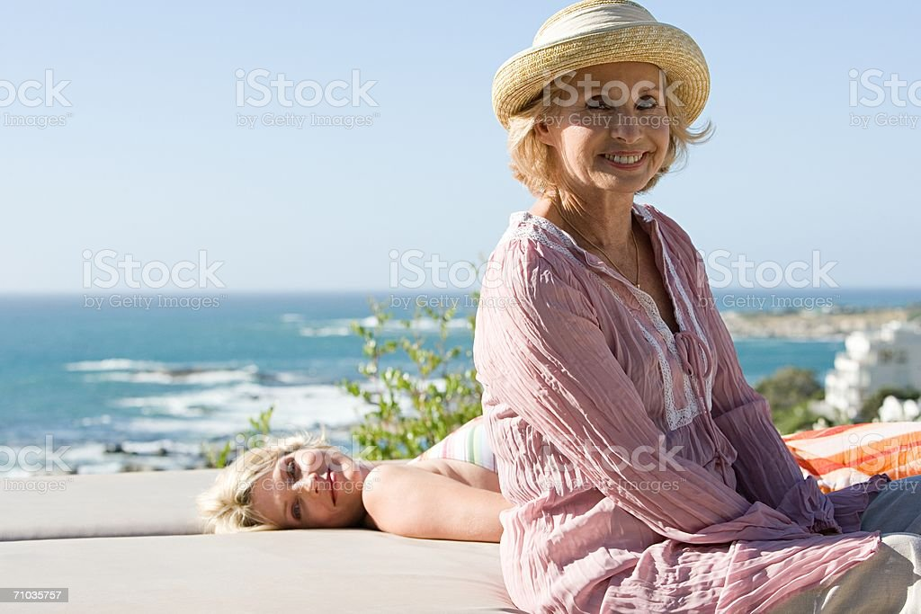 Portrait of a mother and daughter royalty-free stock photo