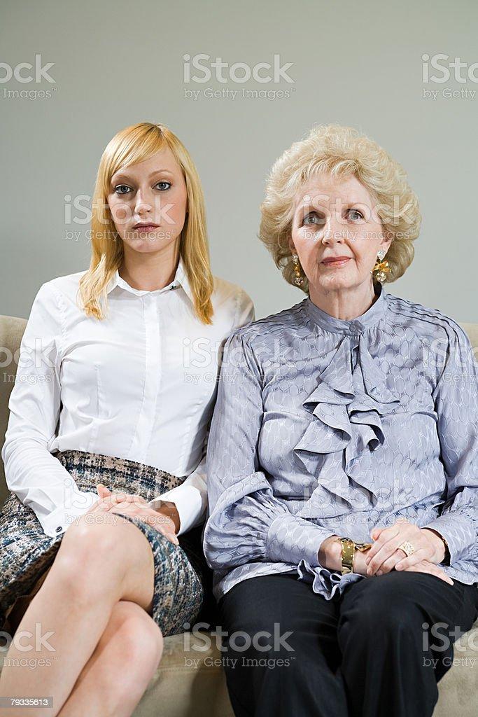 Porträt einer Mutter und Tochter Lizenzfreies stock-foto