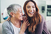 istock Portrait of a mother and her adult daughter 1217422297
