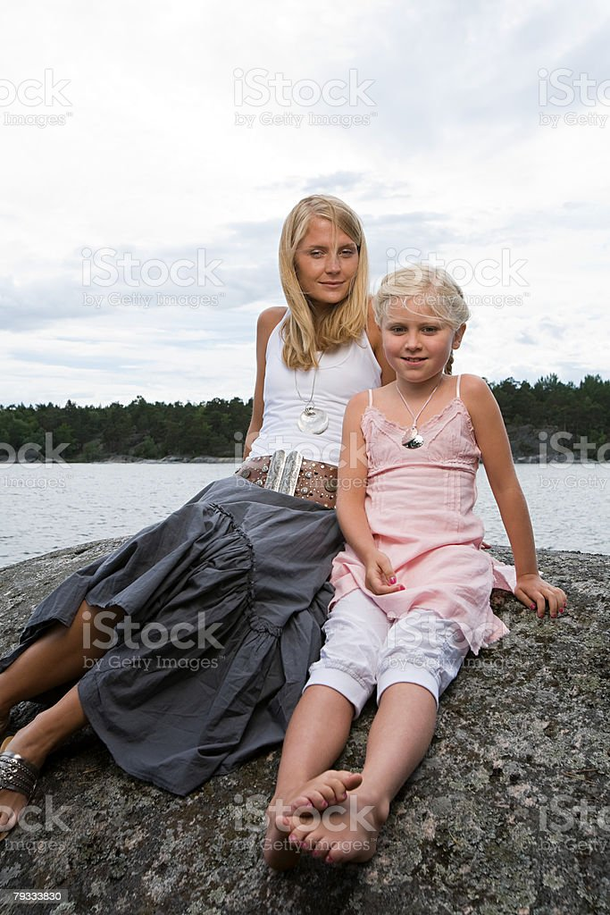 Portrait of a mother royalty-free stock photo
