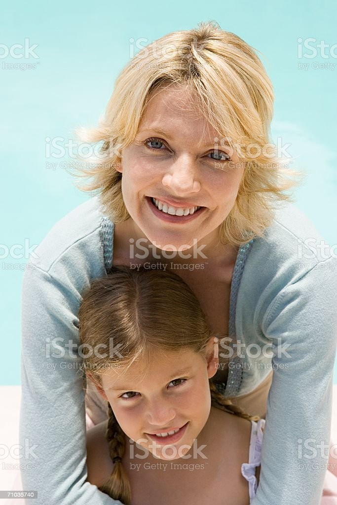 Portrait of a mother with her daughter royalty-free stock photo