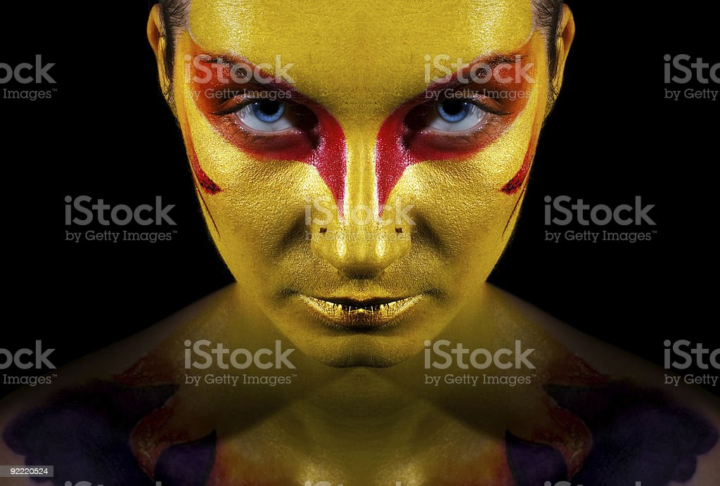 Portrait of a mysterious woman royalty-free stock photo
