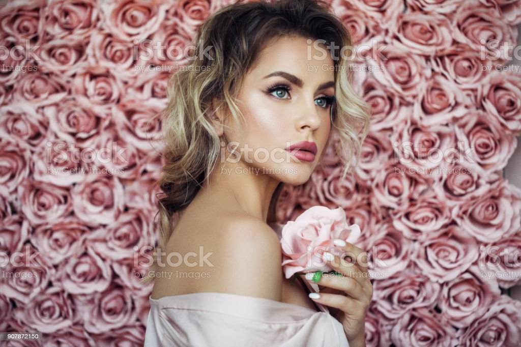 Portrait of a nice looking woman royalty-free stock photo