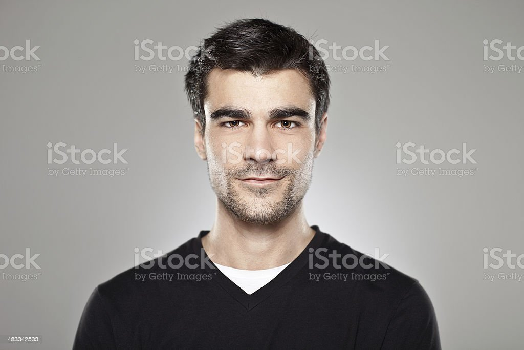 Portrait of a normal boy isolated stock photo