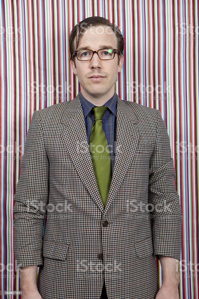 Portrait of a old school businessman stock photo