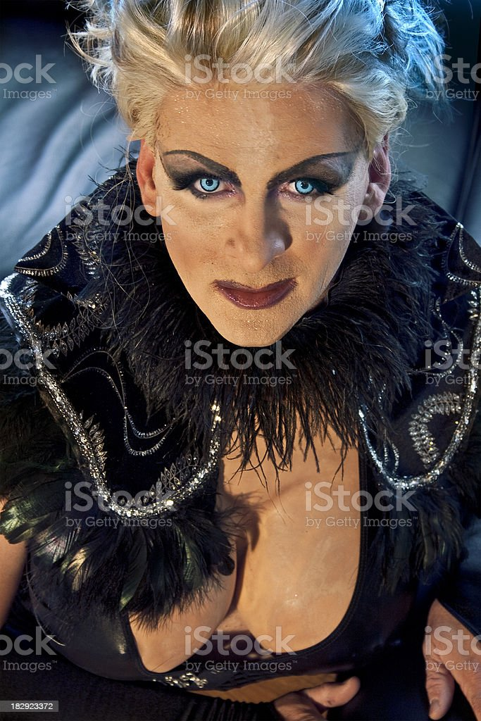 Portrait of a performer stock photo