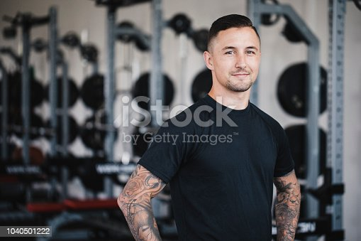 istock Portrait of a Personal Trainer in the Gym 1040501222