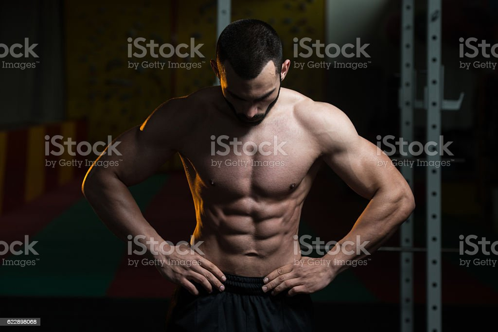 Portrait Of A Physically Fit Muscular Young Man stock photo