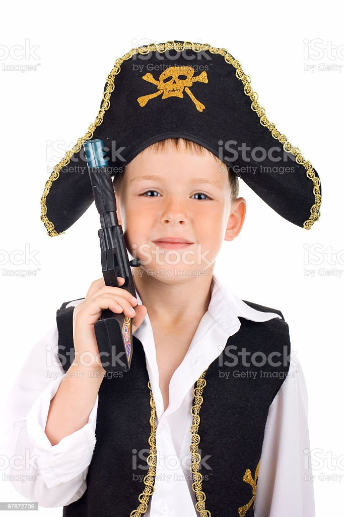 Portrait of a pirate stock photo