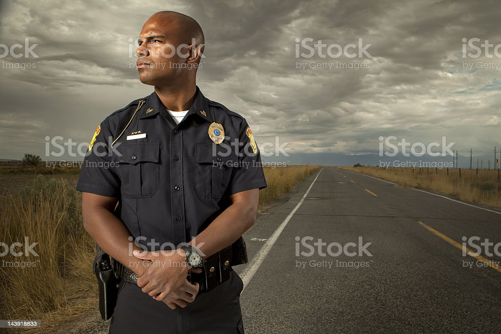 Portrait of a Police Officer stock photo