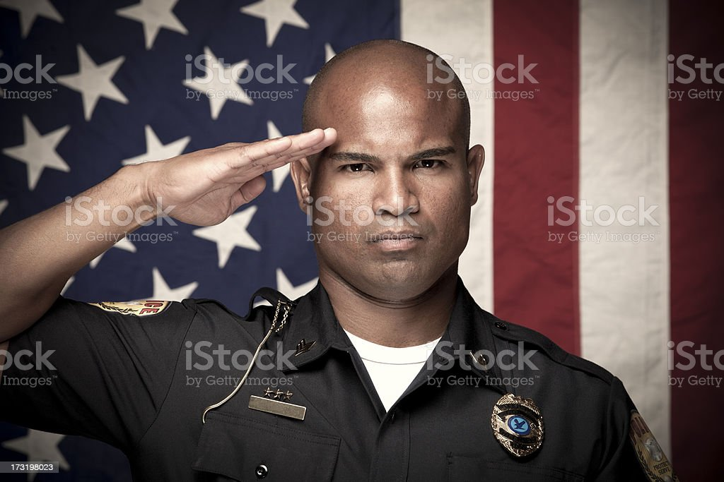 Portrait of a Police Officer royalty-free stock photo