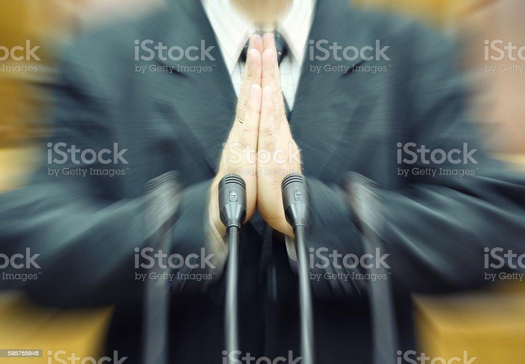 Portrait of a politician stock photo