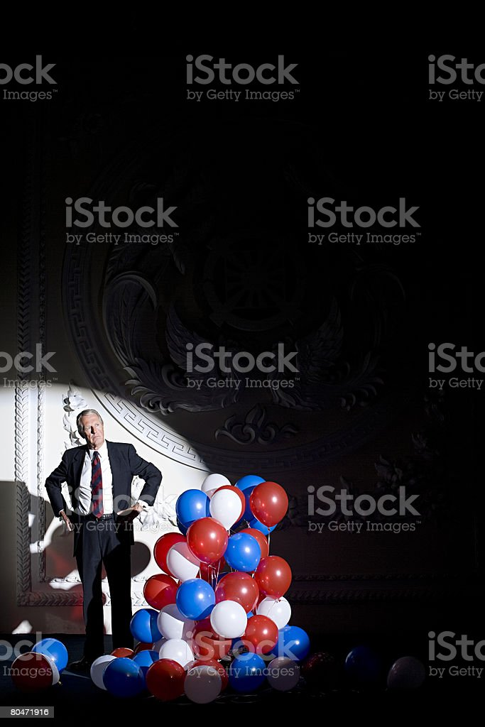 Portrait of a politician royalty-free stock photo
