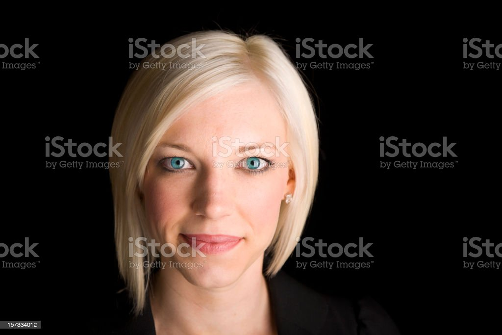 Portrait of a Pretty Blond Woman royalty-free stock photo
