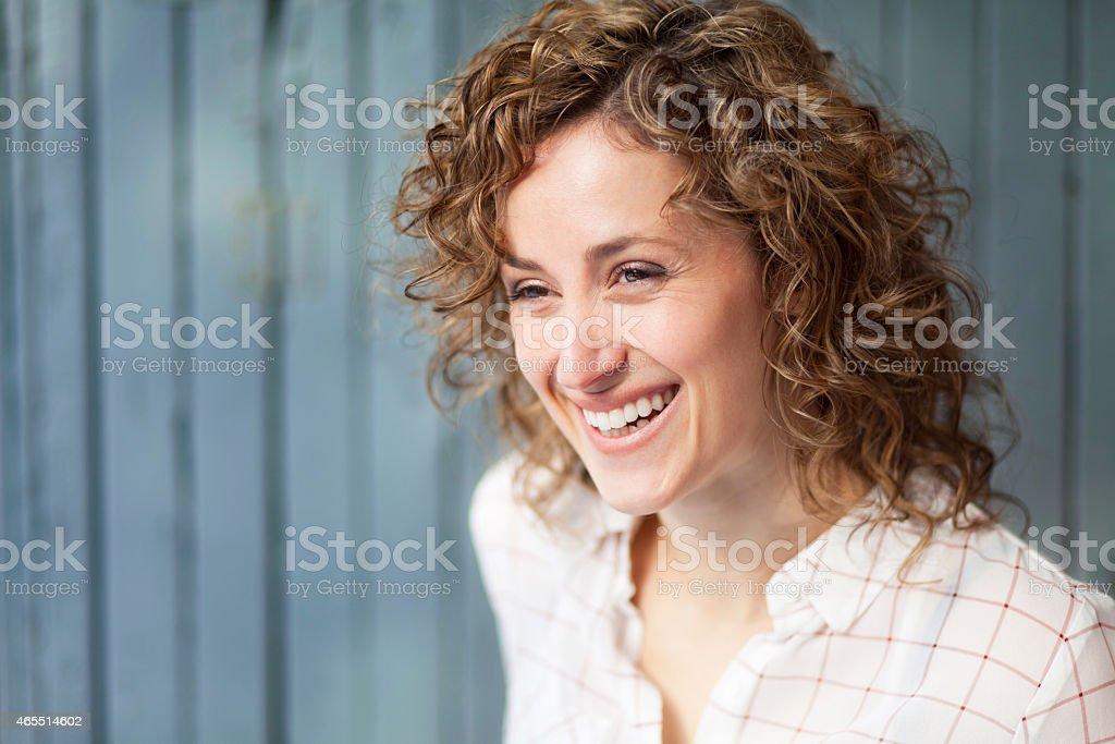 Porträt von schöne glückliche Frau – Foto