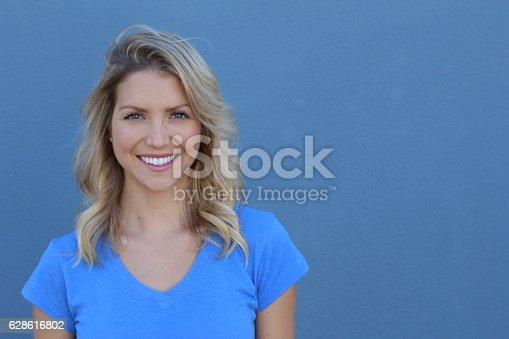 istock Portrait Of A Pretty Happy Woman 628616802