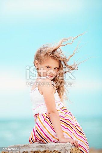 istock Portrait of a pretty little girl 480928664