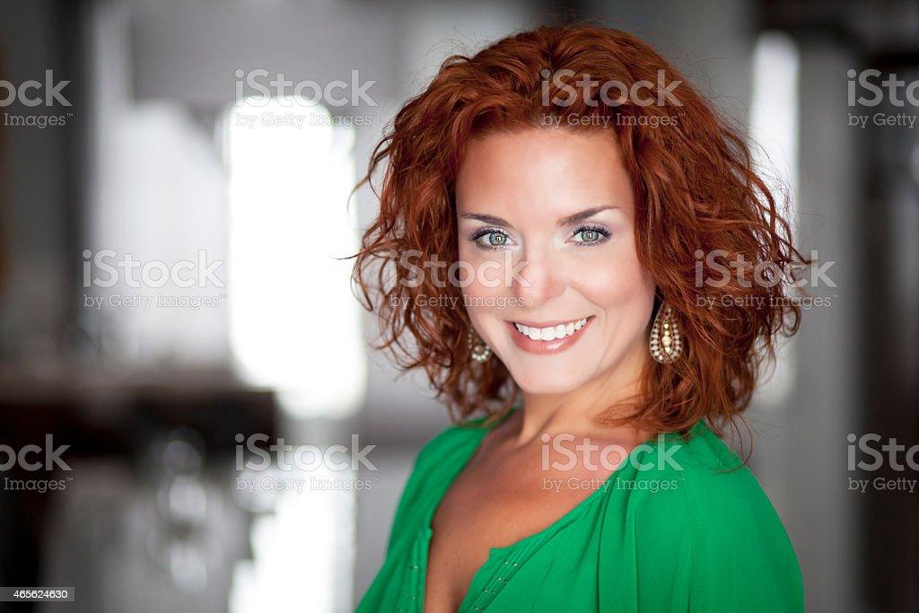 Portrait Of A Pretty Woman stock photo