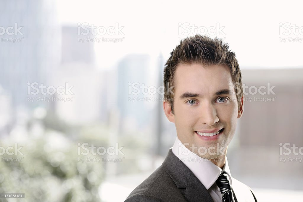 Portrait of a professional young business man. stock photo