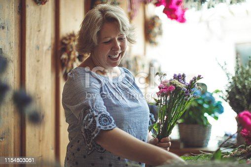 Portrait of a proud florist