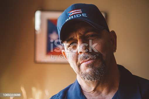 Portrait of a proud Puerto Rican man.