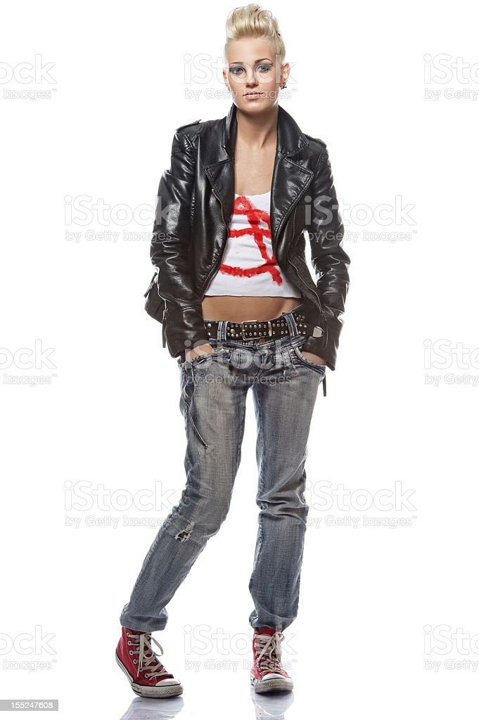Portrait of a punk girl royalty-free stock photo