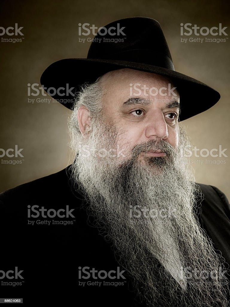 Portrait of a rabbi stock photo