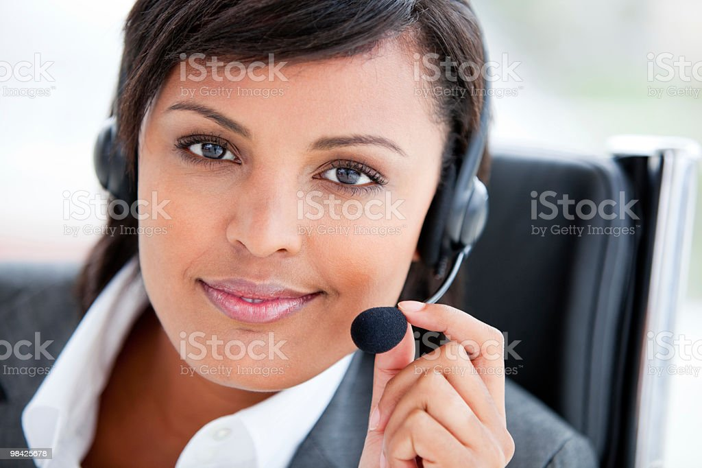 Portrait of a radiant customer service agent royalty-free stock photo