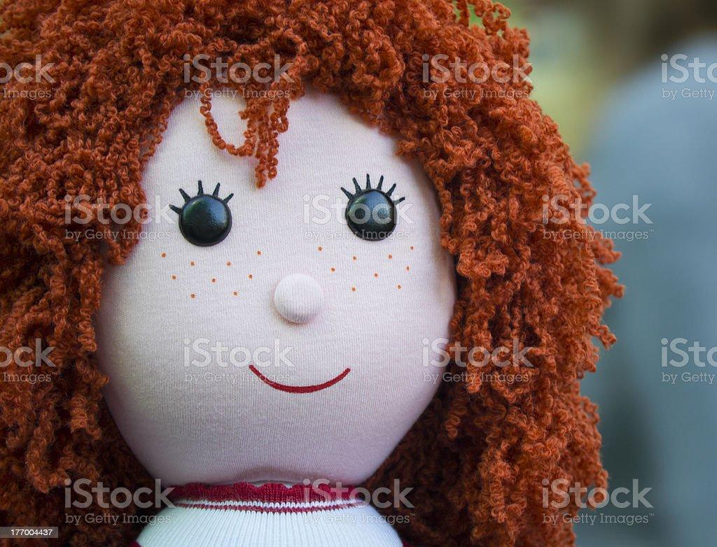Retrato de uma boneca de pano - foto de acervo