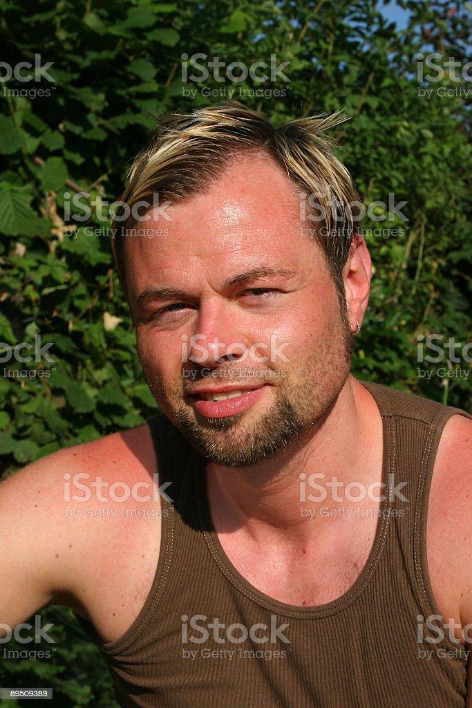 Portrait of a rakisk mid adult man royalty-free stock photo