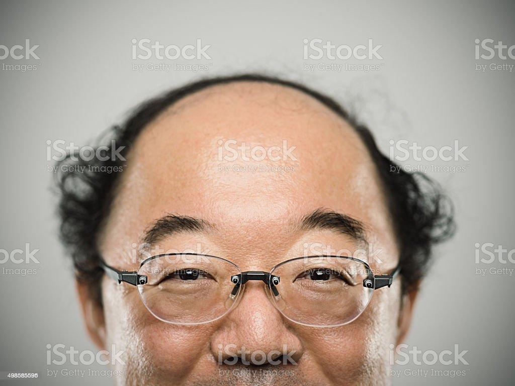 ポートレートのリアルな日本の男性にブラックのヘアます。 ストックフォト