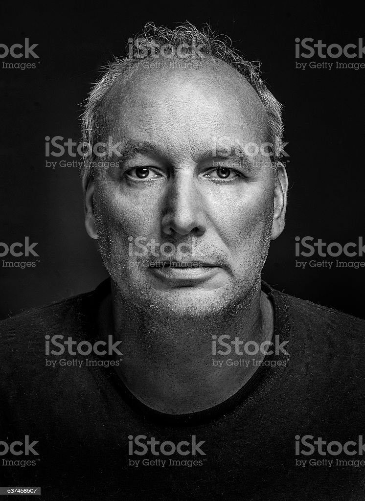 Portrait of a real man stock photo