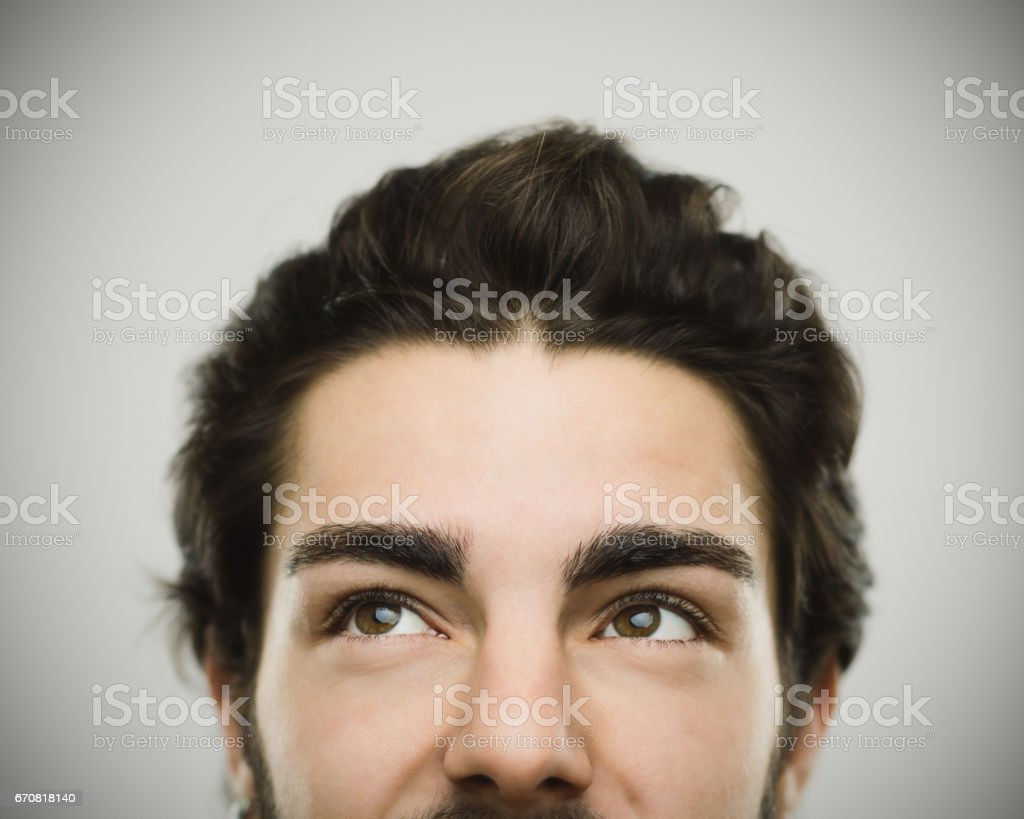 Portret van een echte Glimlachende man foto