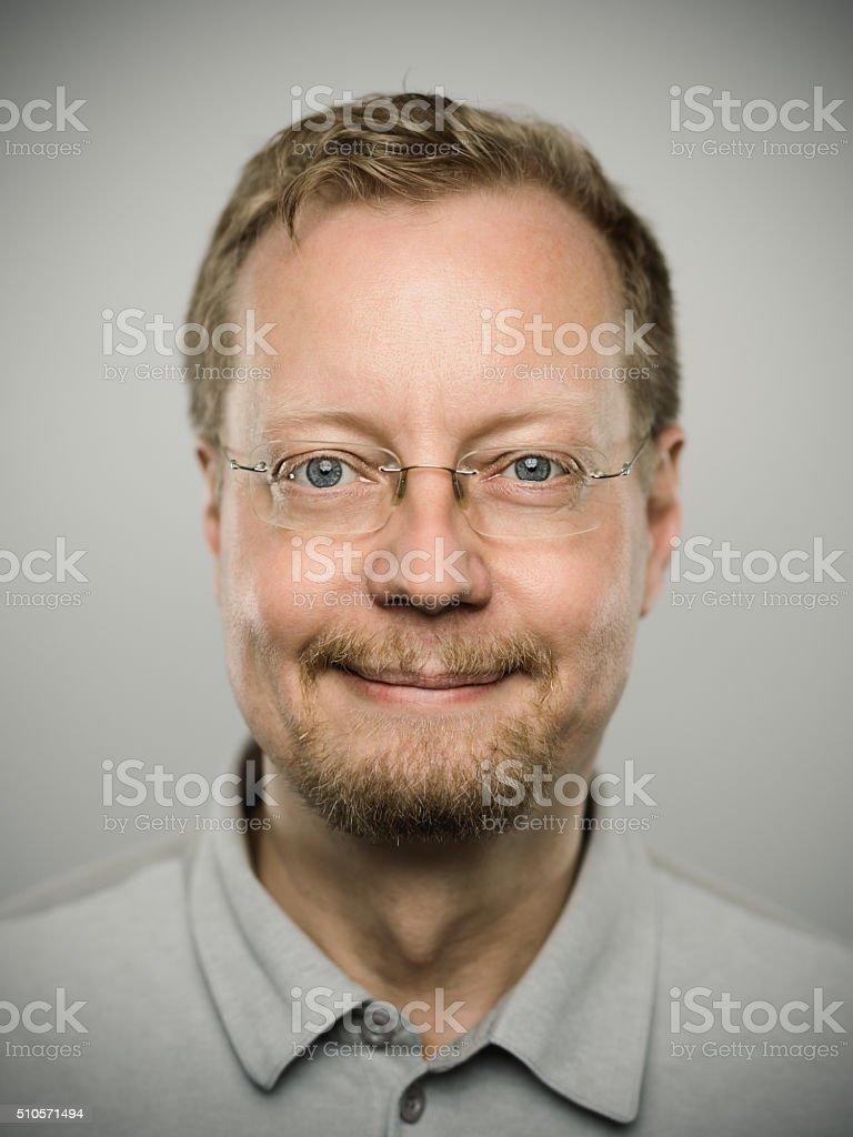 Portrait of a real swedish man. stock photo